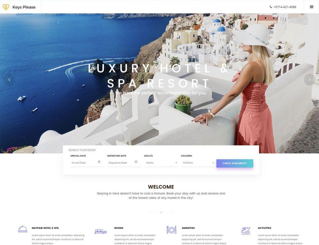 Criação de Sites para Hotéis desenvolvidos em WordPress