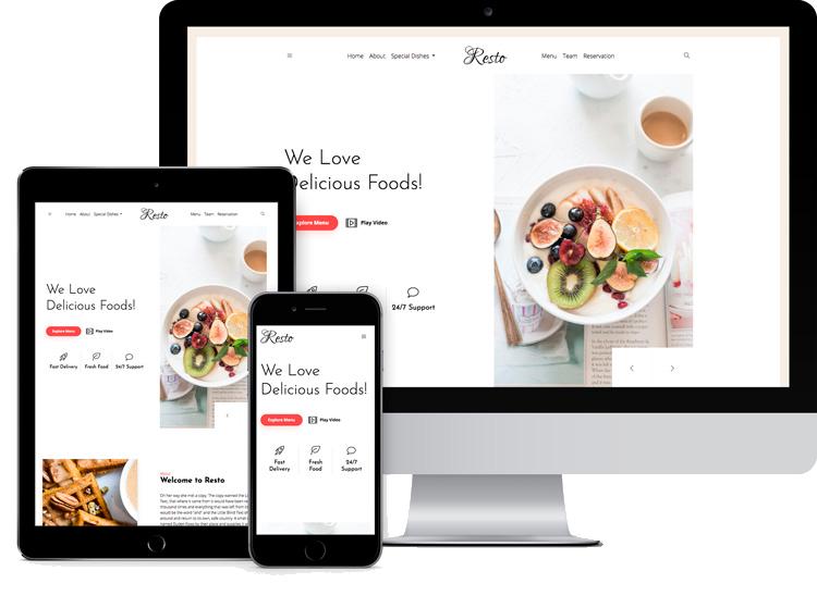 Criação de Sites para Restaurantes com design responsivo