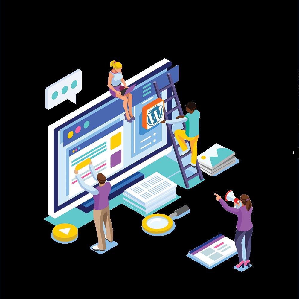 Web Design Personalizado de Criação de Sites WordPress